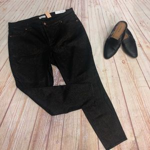 Loft plus slim pocket skinny jeans black NWT 20